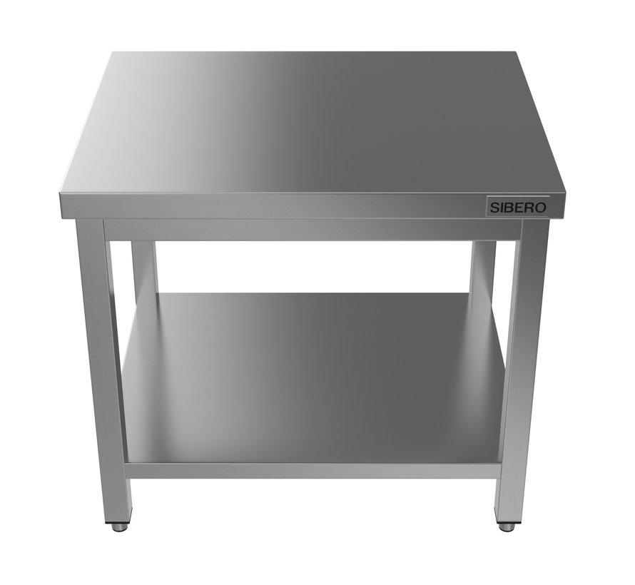 Horeca Werktafel - RVS - Met Onderblad - Demontabel - 1000x700x850(h)mm - Met Bodemschap