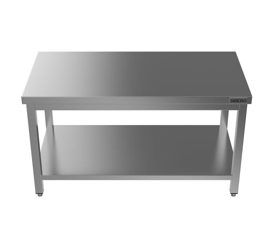 Werktafel - RVS - Met Onderblad - Demontabel - B 160 x D 70 x H 85