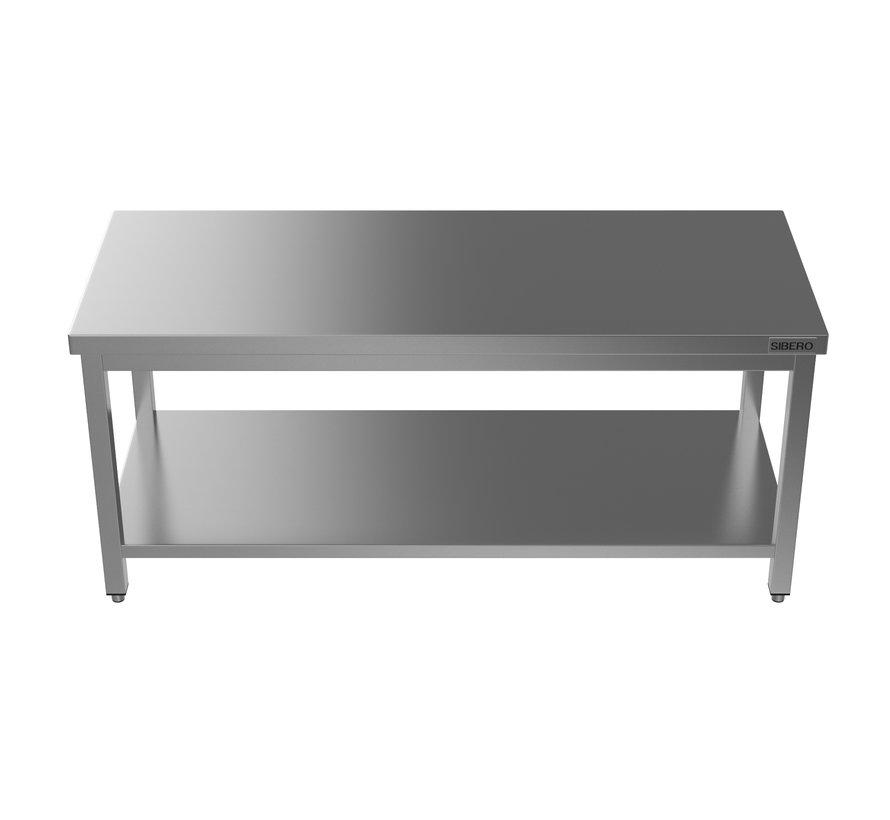 Horeca Werktafel - RVS - Met Onderblad - Demontabel - 2000x700x850(h)mm - Met Bodemschap