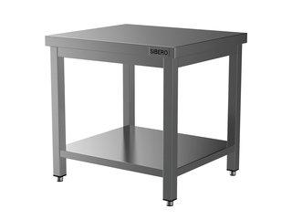 HORECA PLACE  Horeca Werktafel - RVS - Met Onderblad - Demontabel - 800x700x850(h)mm - Met Bodemschap