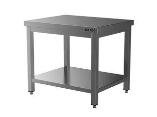 HORECA PLACE  Horeca Werktafel - RVS - Met Onderblad - Demontabel - 1000x700x850(h)mm - Met Bodemschap