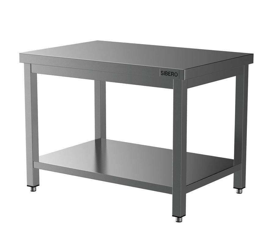 Werktafel - RVS - Met Onderblad - Demontabel - B 120 x D 70 x H 85
