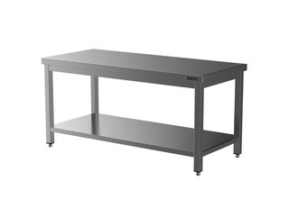 HORECA PLACE  Horeca Werktafel - RVS - Met Onderblad - Demontabel - 1800x700x850(h)mm - Met Bodemschap