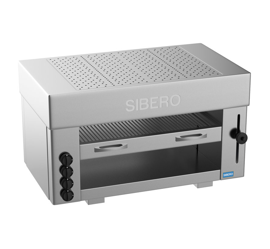 Horeca Pita Oven - Sibero - 4 Gas Branders - 960x430x600(h)mm - Aardgas