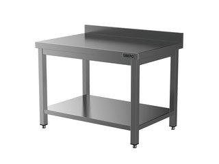 HORECA PLACE  Horeca Werktafel - RVS - Met Onderblad – Met Opstand - Demontabel - 1400x700x850(h)mm - Met Bodemschap
