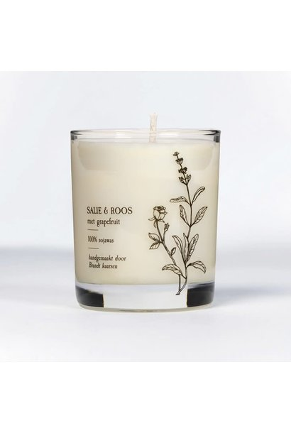 Candle Sage & Rose with grapefruit