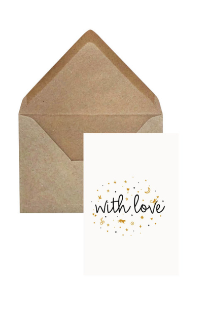 Greeting Card 'With love'
