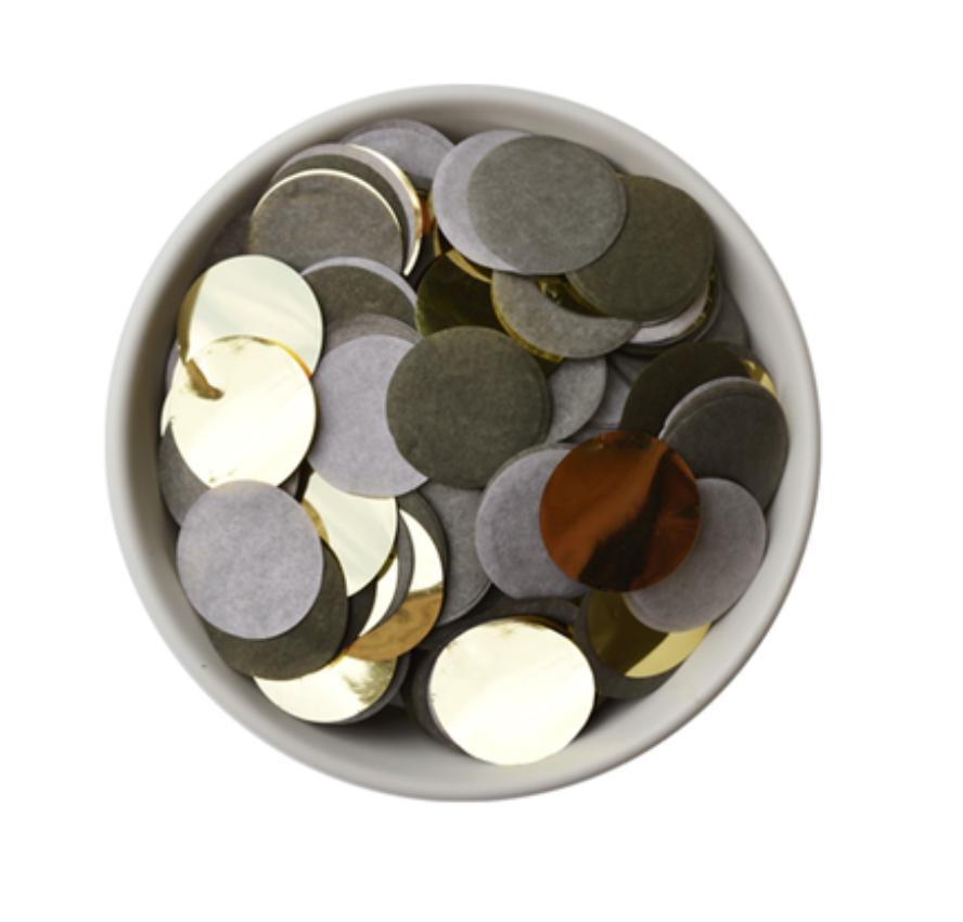 Olijfgroen Gouden Confetti - Delight Department-1