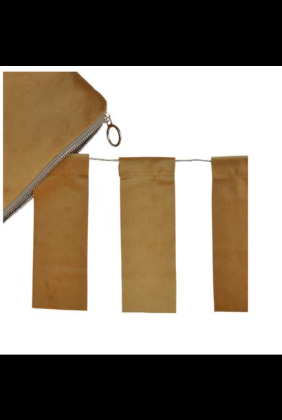 Ochre Velvet Tassel & Velvet bag