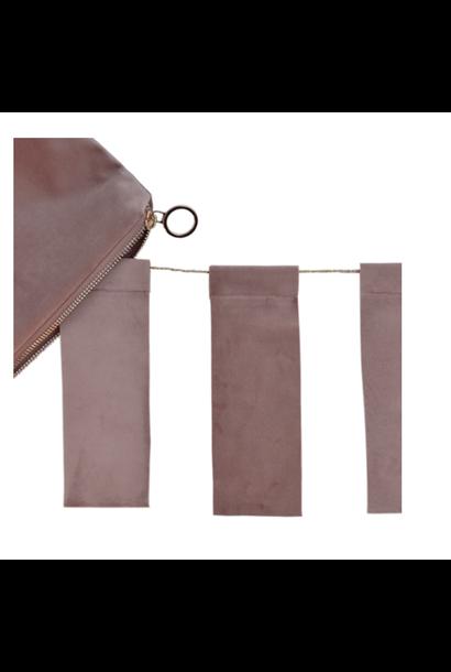 Dusty Pink Velvet Tassel & Velvet purse