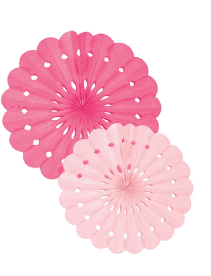 Roze Tissuepapier Waaier-1