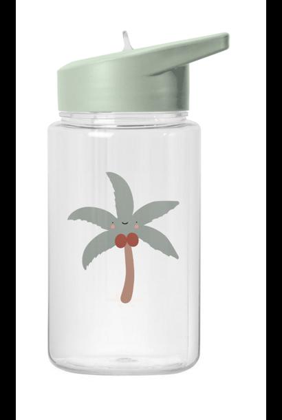 Tropical Water Bottle Coconut tree