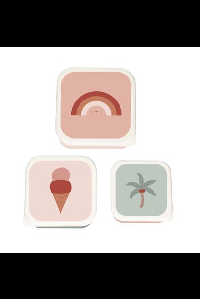 Tropische Lunchbox set van 3