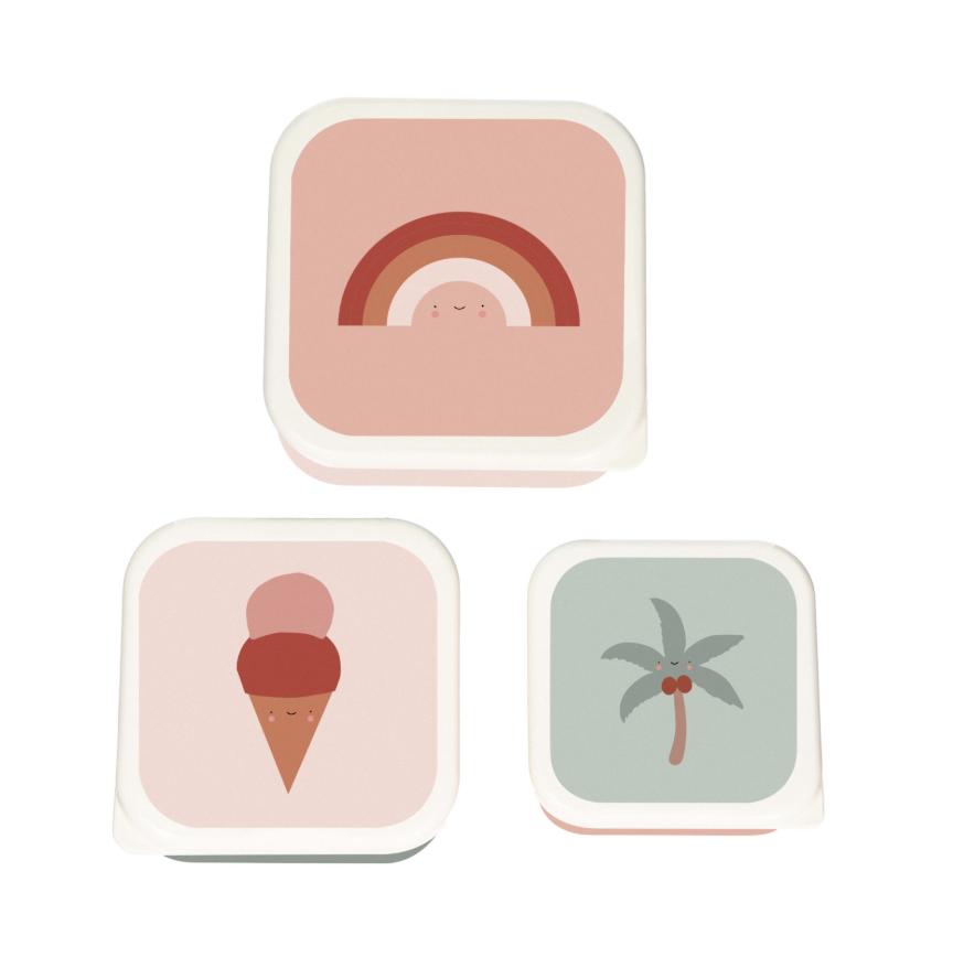Tropische Lunchbox set van 3-1
