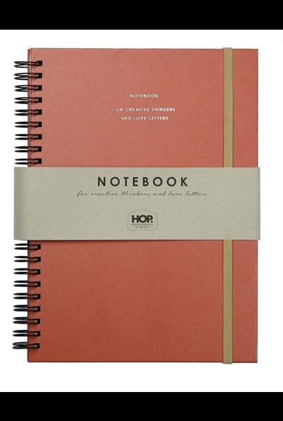 Notitieboek Groot - Brick Red