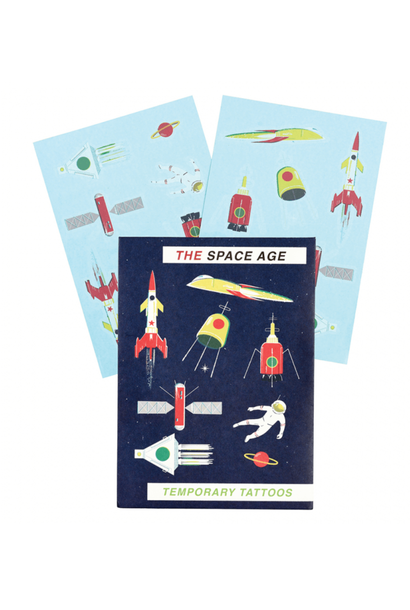 The Space Age Temporary Tattoos
