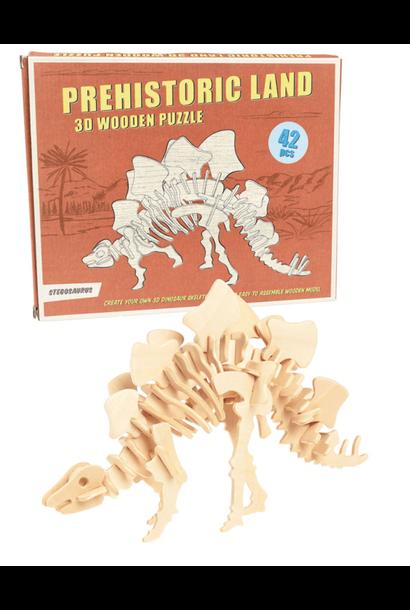 Stegosaurus 3D Houten Puzzel