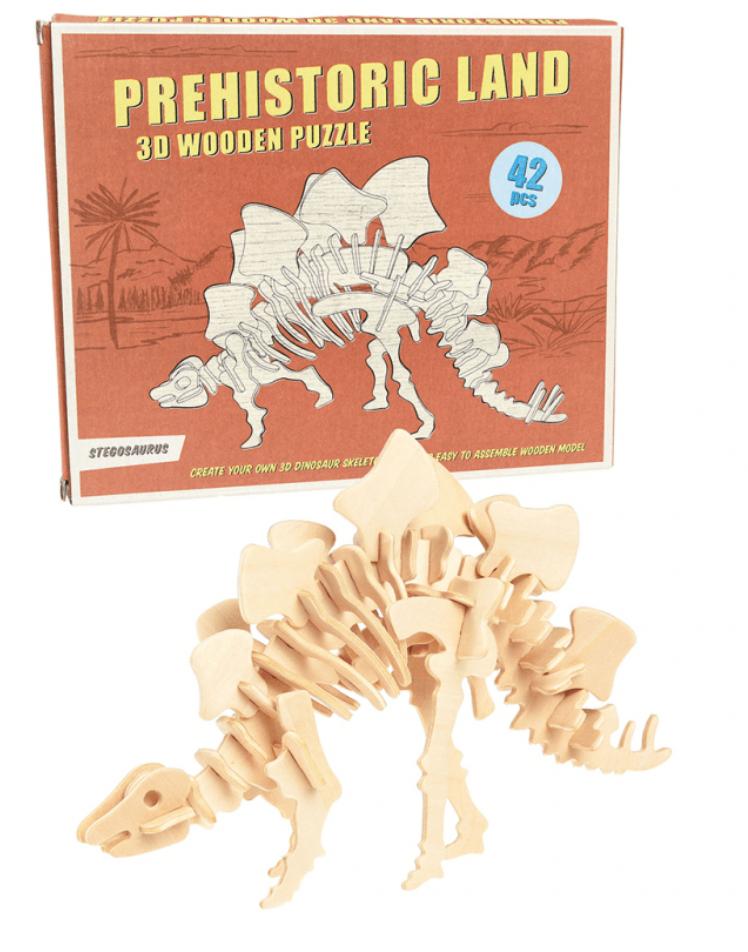Stegosaurus 3D Houten Puzzel-1