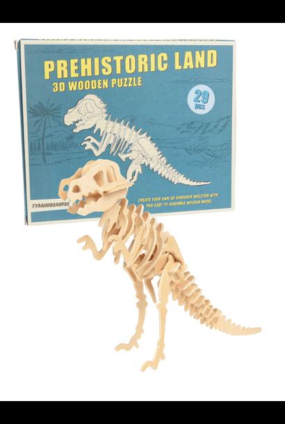 Tyrannosaurus 3D Houten Puzzel