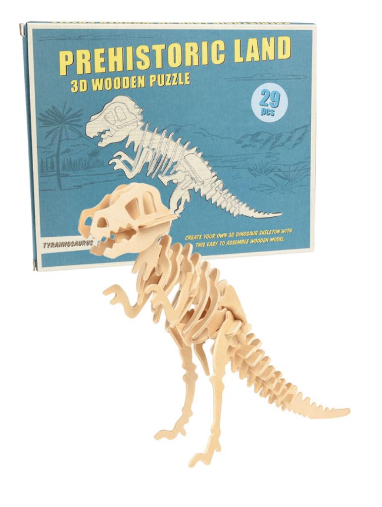 Tyrannosaurus 3D Houten Puzzel-1