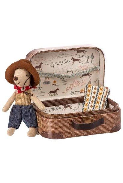 Cowboy Muis in Koffertje