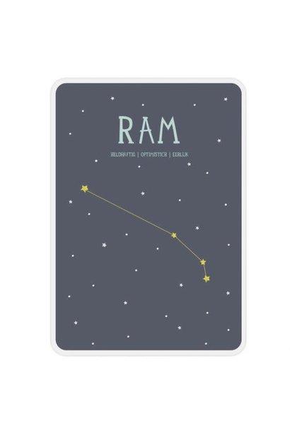 Posterkaart Geboorte Ram