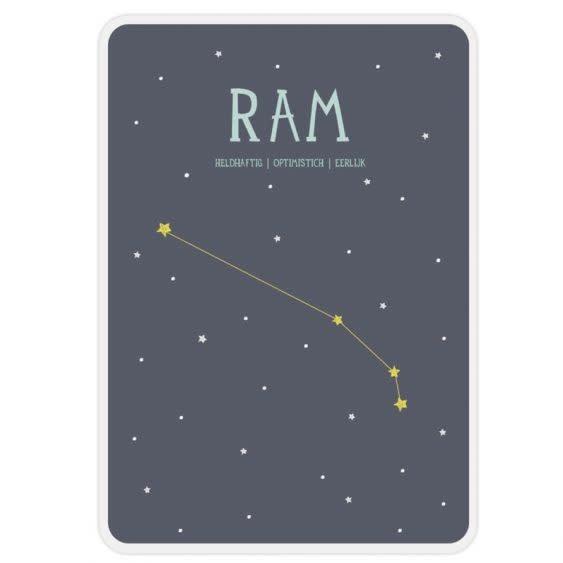 Posterkaart Geboorte Ram-1
