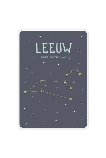 Zodiac Poster Card - Leo