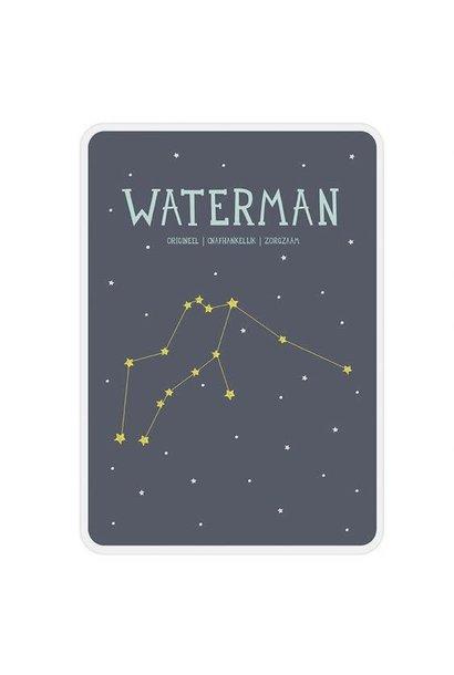 Posterkaart Geboorte Waterman