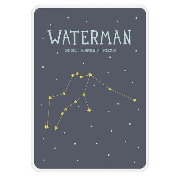 Posterkaart Geboorte Waterman-1