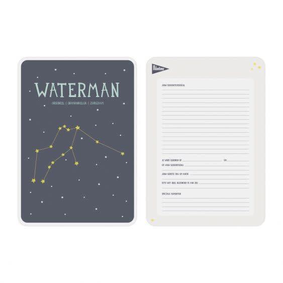 Posterkaart Geboorte Waterman-2