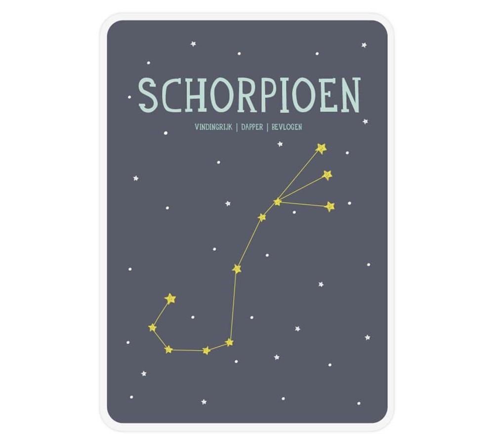 Posterkaart geboorte Schorpioen-1