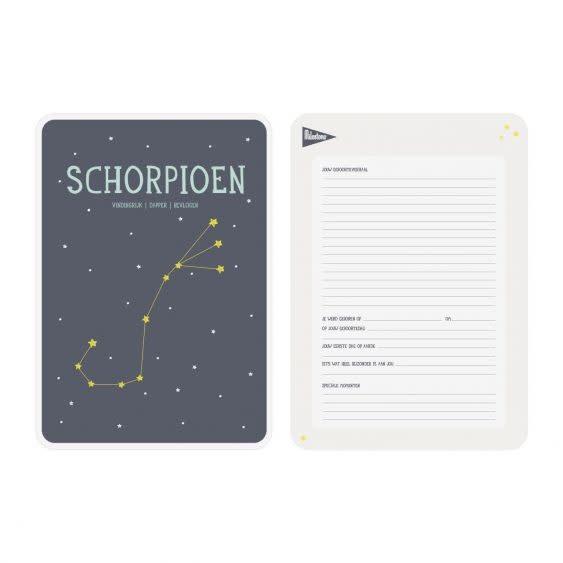 Posterkaart geboorte Schorpioen-2