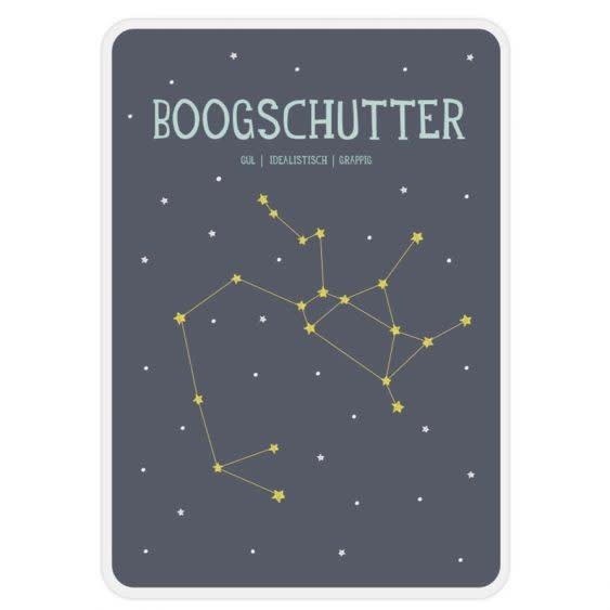 Posterkaart Geboorte Boogschutter-1