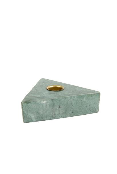 Kandelaar Collin Triangle Groen Marmer