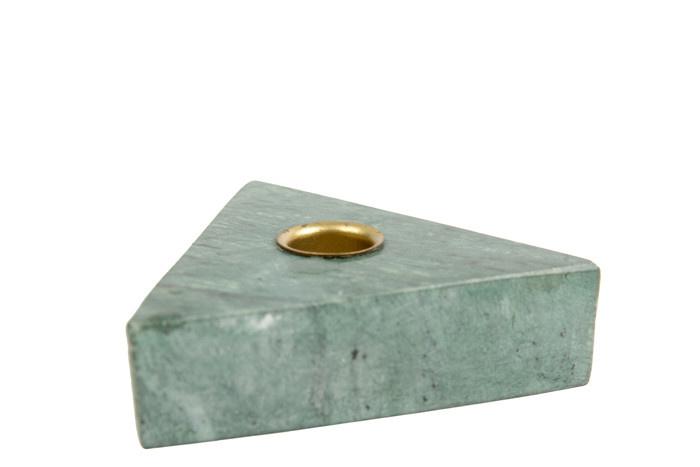 Kandelaar Collin Triangle Groen Marmer-1