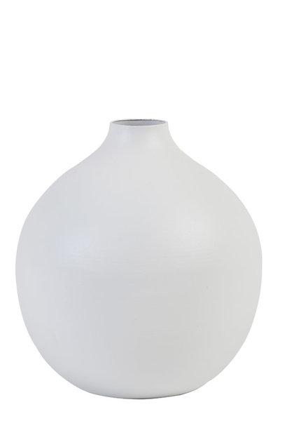 Vase Rayat Matt White