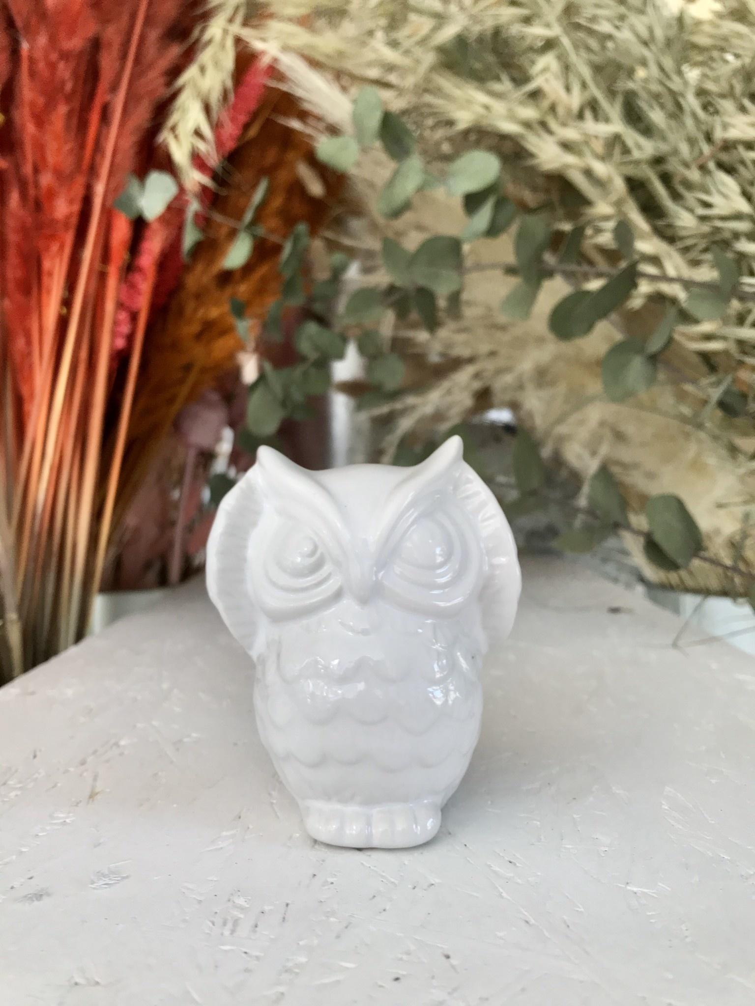 Decoratieve Uil Porselein-1