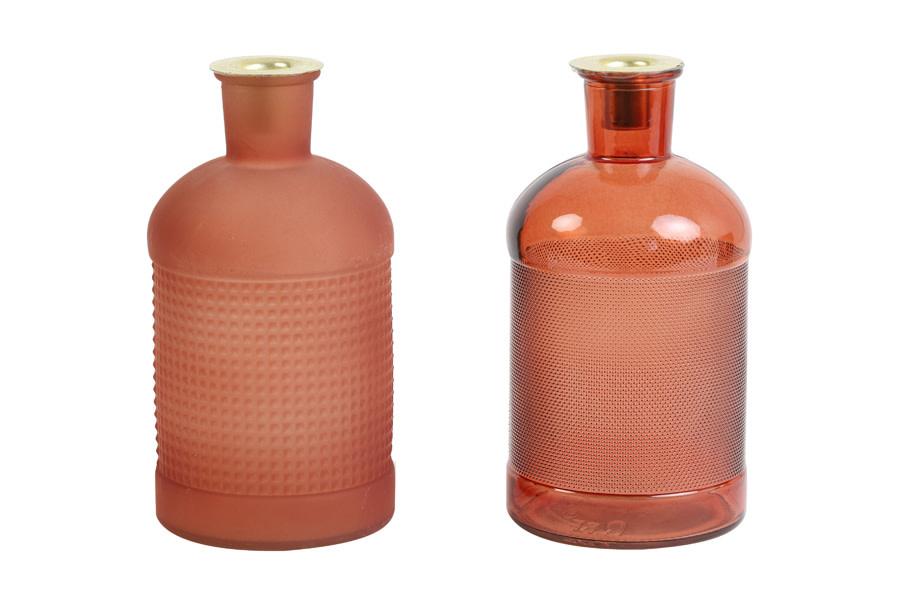 Fles / Kandelaar Elisa Mat Glas Terracotta-2