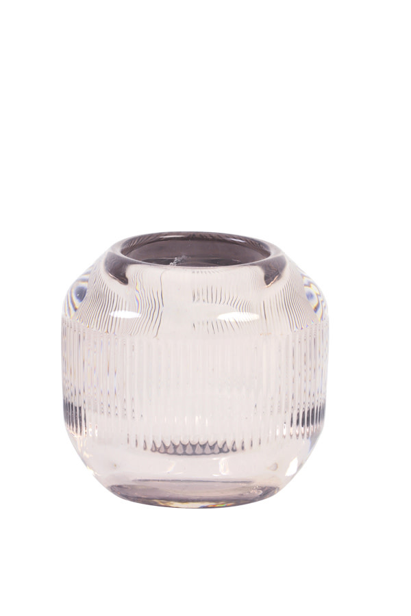 Theelichthouder Pepper Glass Oudroze S-1