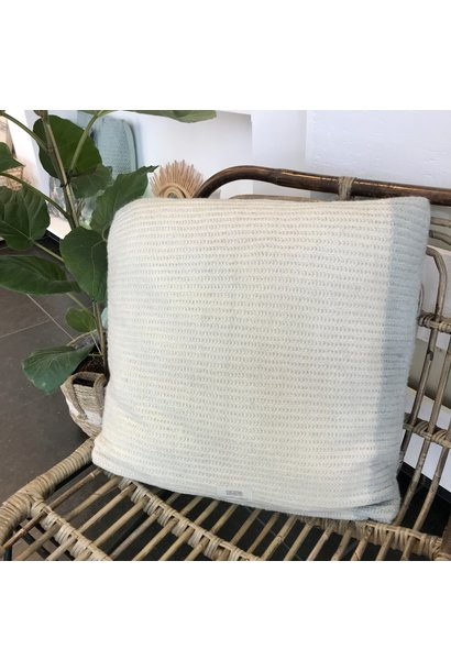 Kussen Beatrice Off White/Old Blue