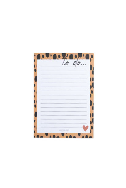 Notebook To Do Panter