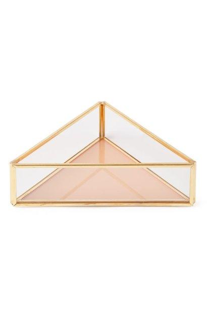 Triangle box glass  Peach