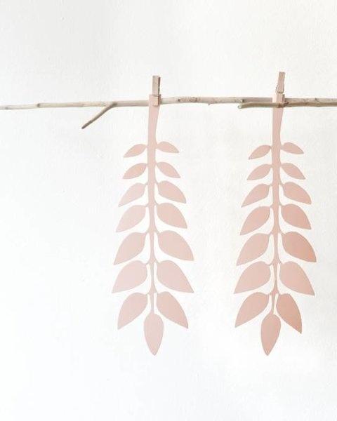 Goud & Perzik Roze Decoratie Bladeren-3