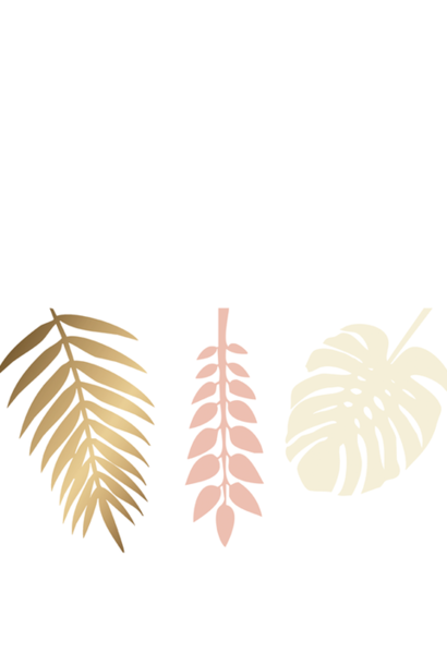 Gold & Peach Decoration Leaves