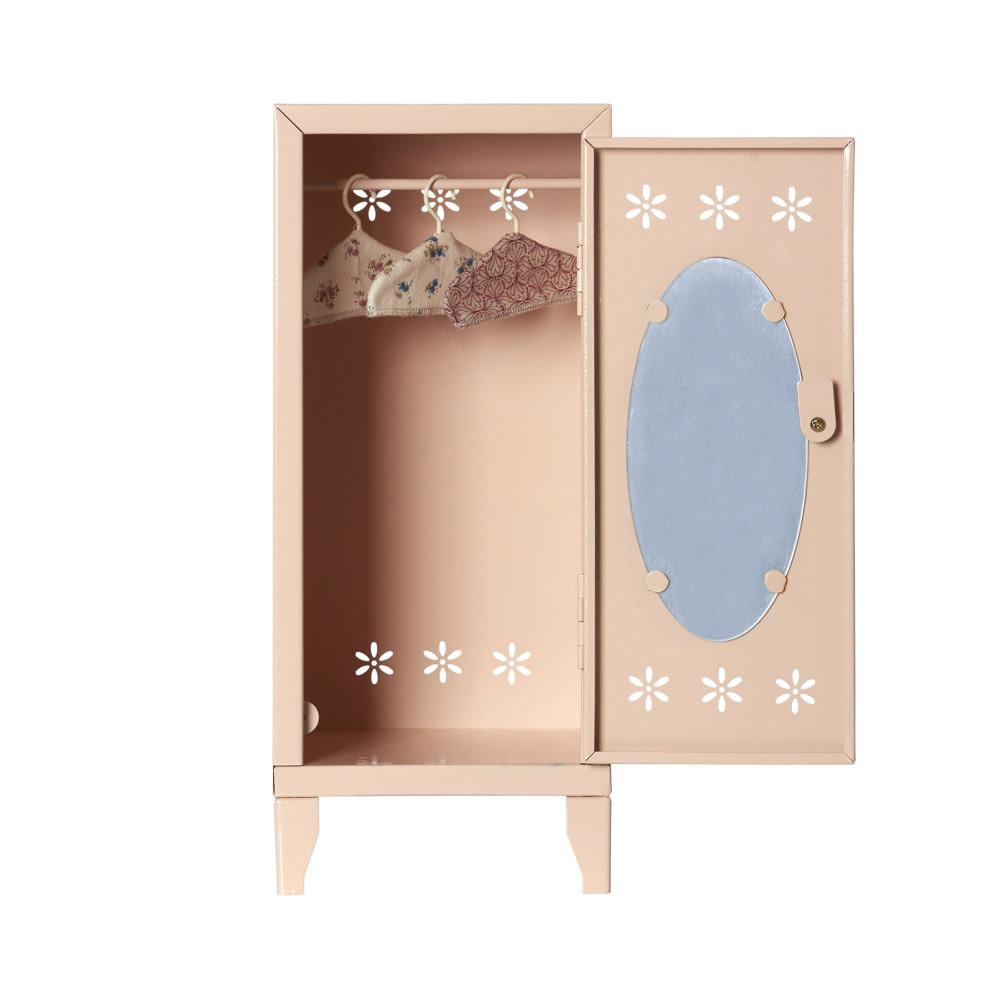 Locker w. Three Hangers, Pink-2