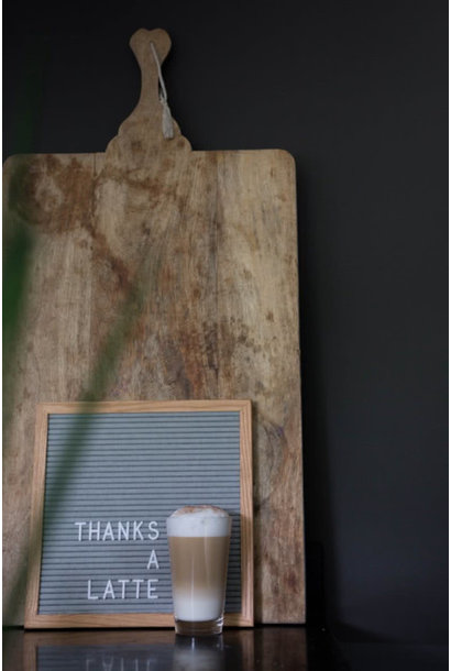 Letterbord Grijs