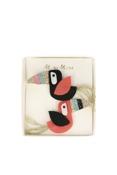 Toucan Hair Clips