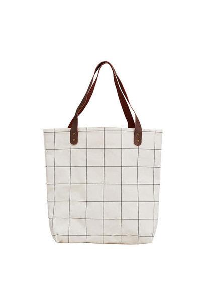 Bag / Shopper White Quadrangle