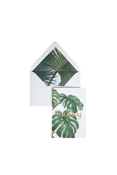 Greeting Card 'Botanic Palm - Hooray'